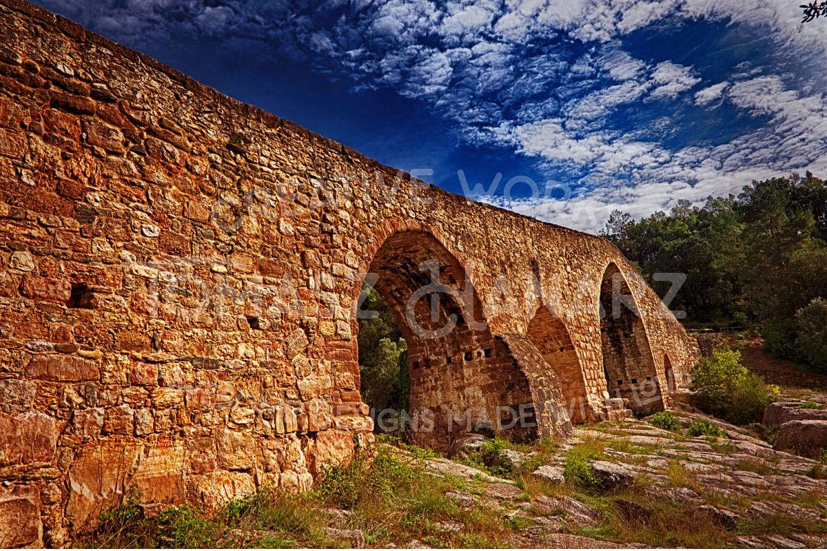 Old Stone Roman Bridge example image 1
