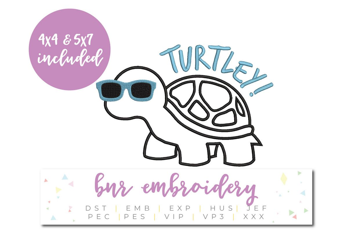 Turtle Machine Embroidery Design example image 1