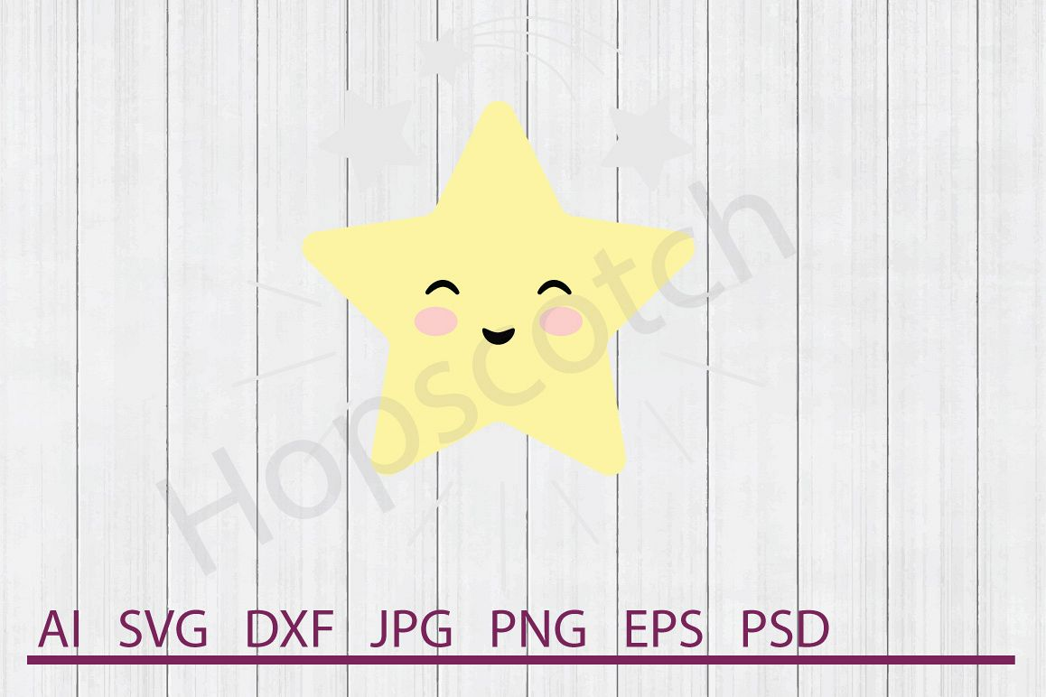Star SVG, DXF File, Cuttable File example image 1