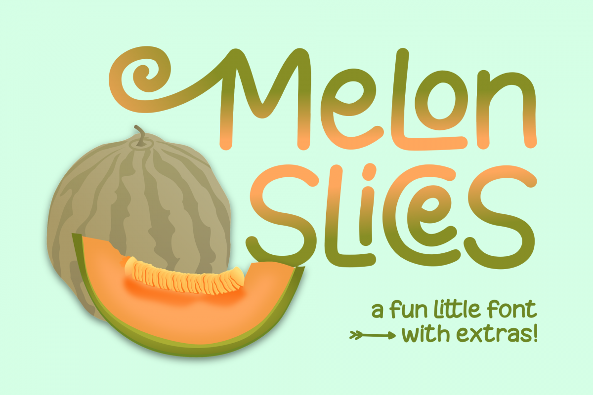 Melon Slices - a fun little font example image 1