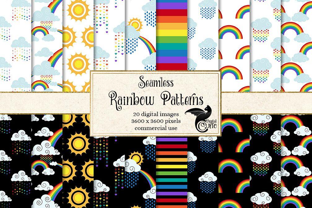 Rainbow Digital Paper example image 1