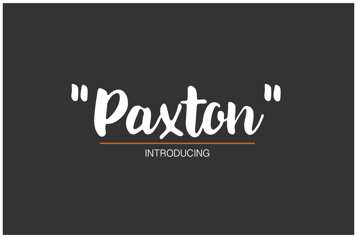 Paxton   A chic Hand written Font example image 1