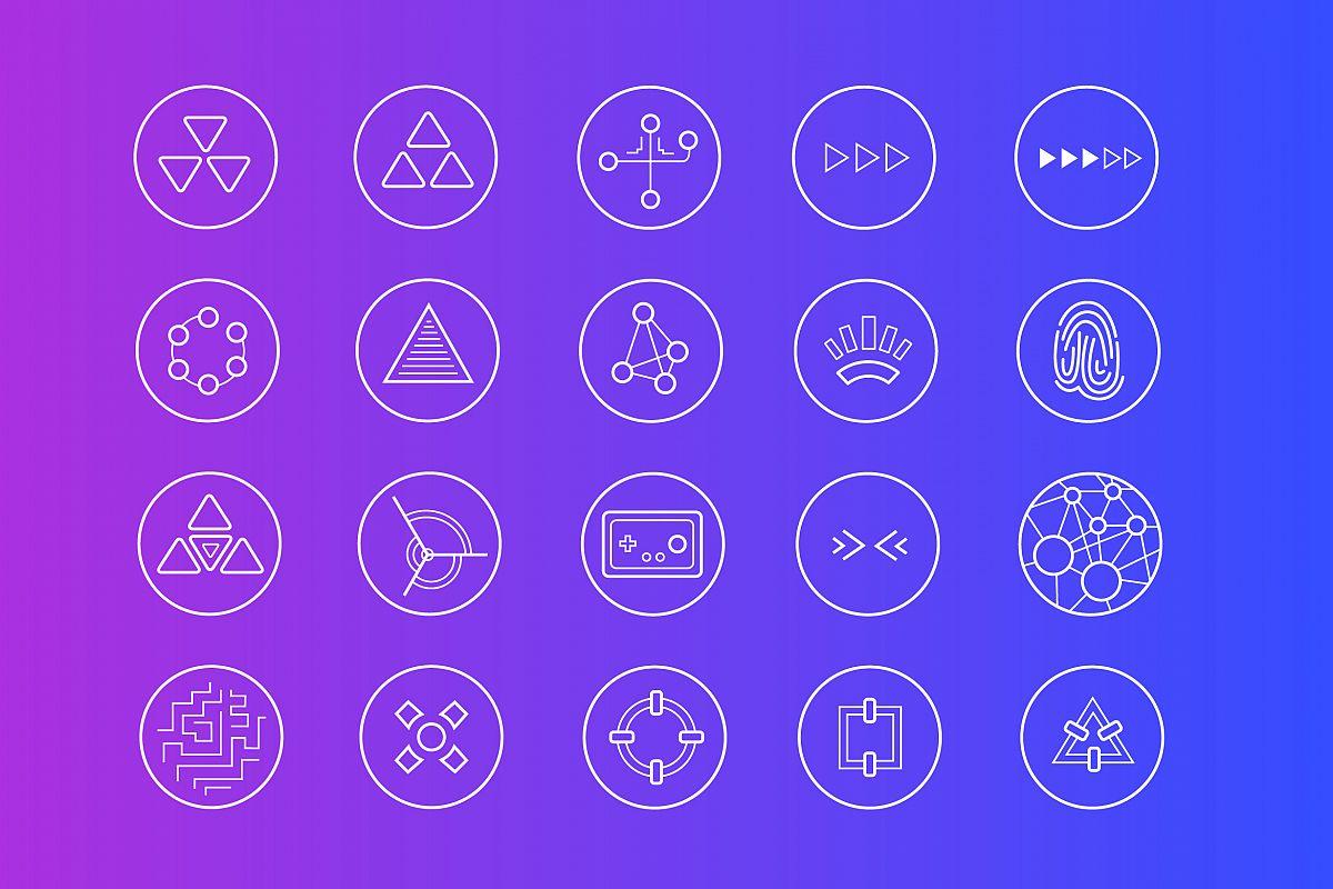 Futuristic Icons example image 1