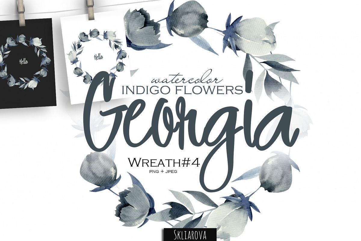 Georgia. Indigo Wreath #4 example image 1