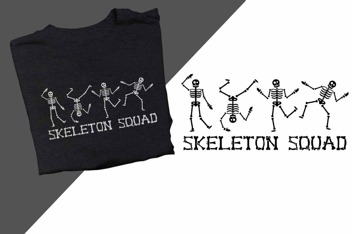 Skeleton Squad Halloween Printable example image 1