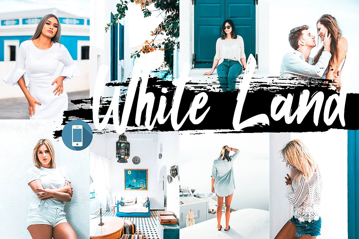 5 White Land Mobile Lightroom Presets, Bright portraiture example image 1