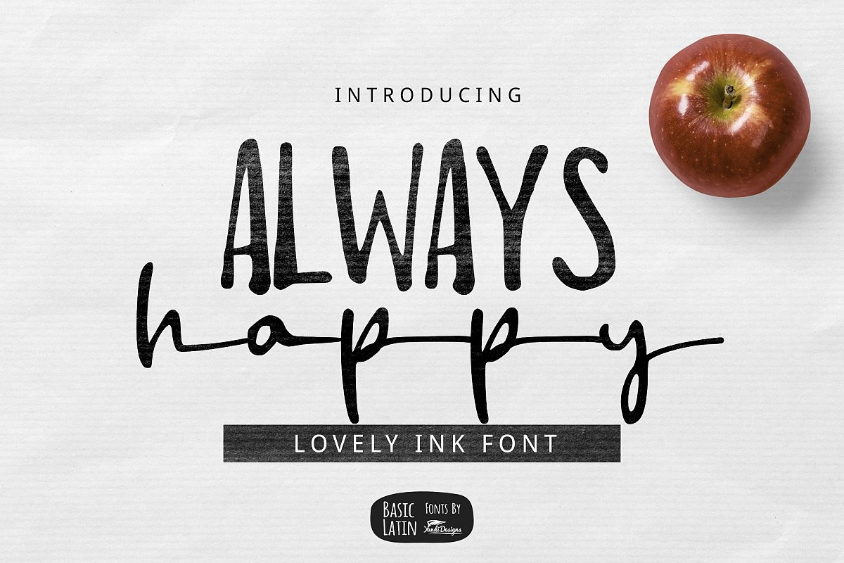 Always Happy Ink Font example image 1