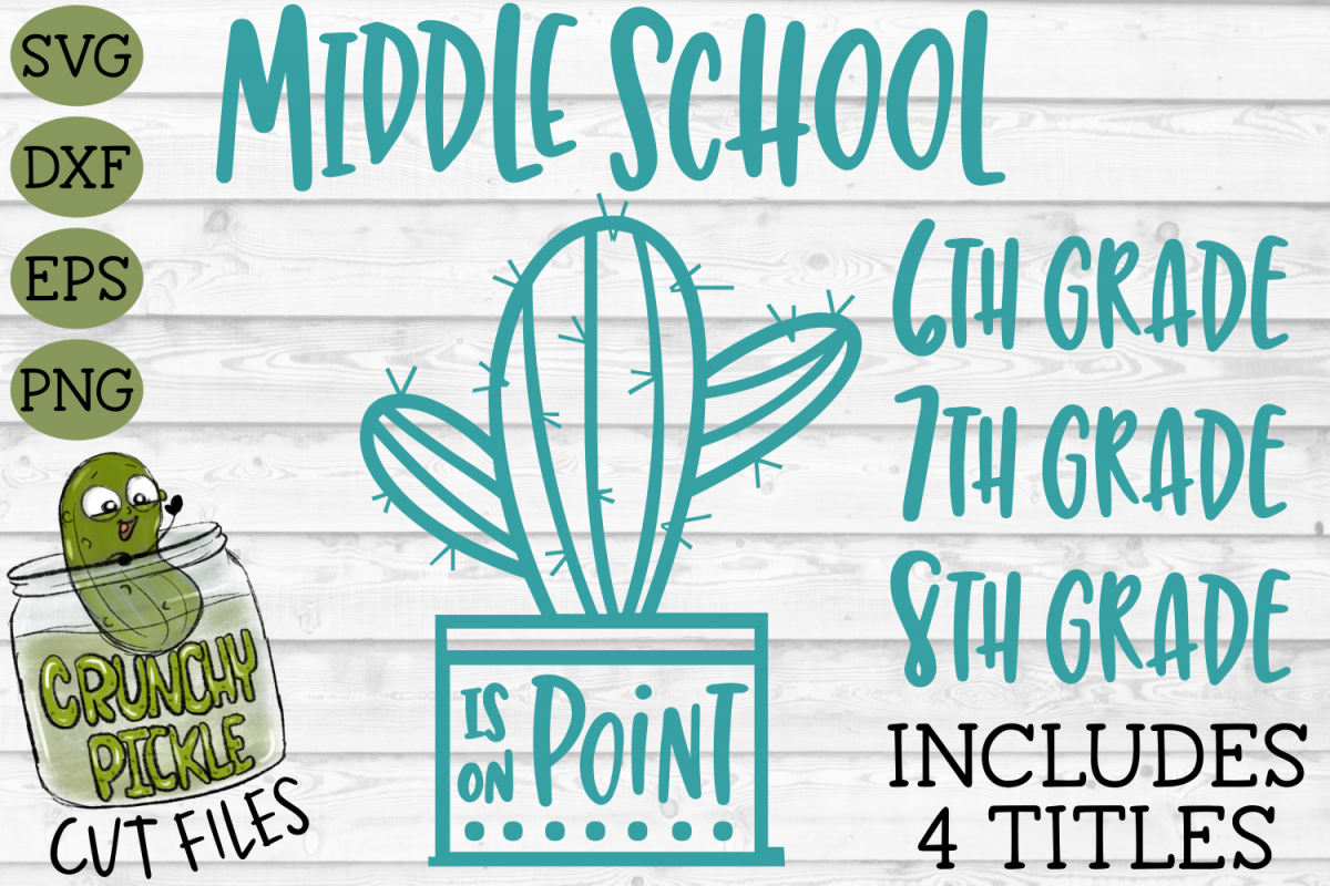 Cactus Middle School Grades on Point SVG example image 1