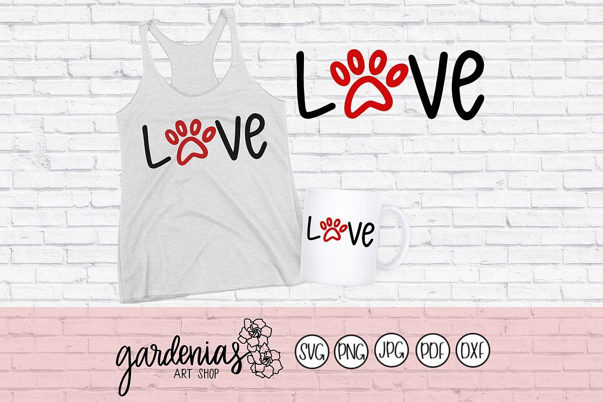 Love Paw Print example image 1