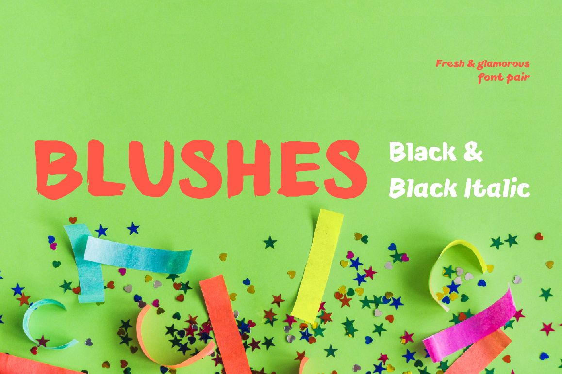 Blushes — Black & Black Italic example image 1