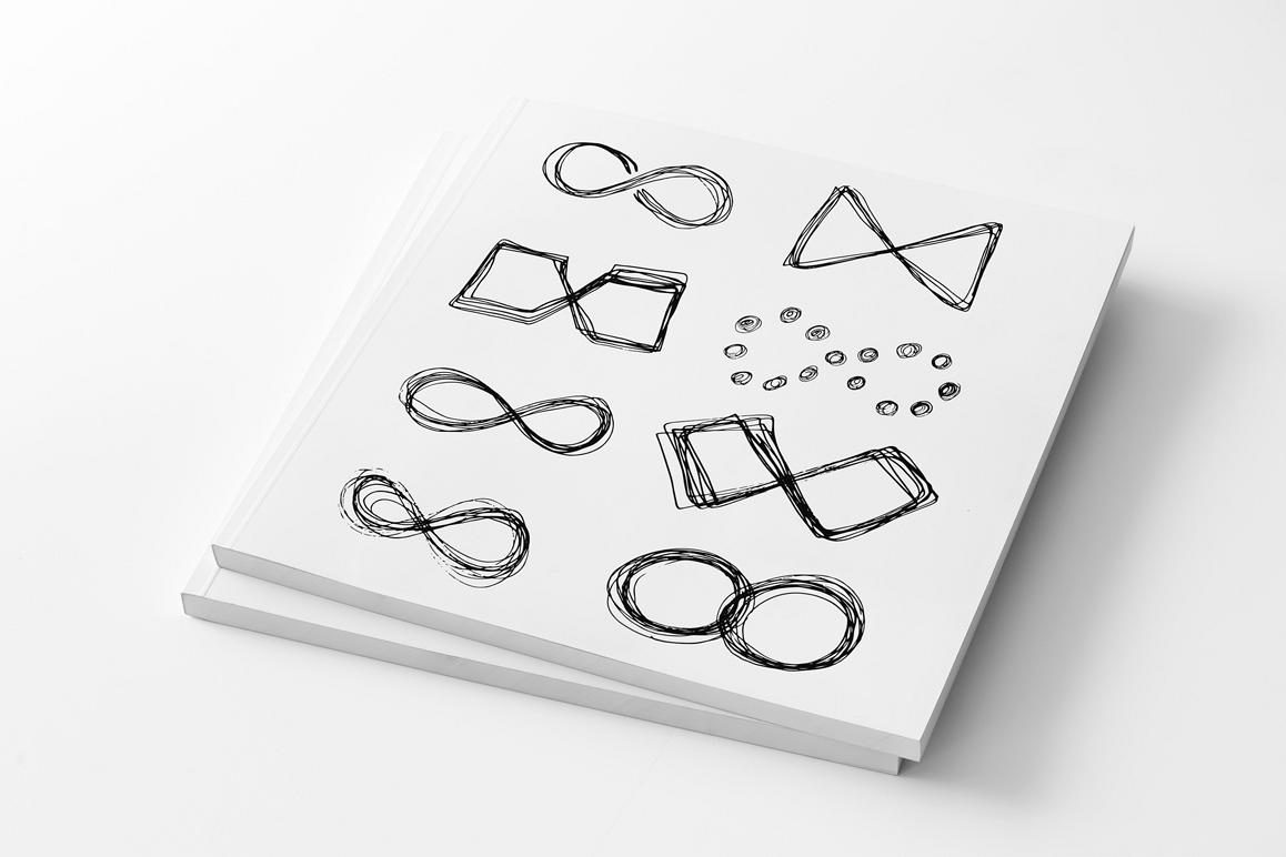 Hand drawn infinity icons set example image 1