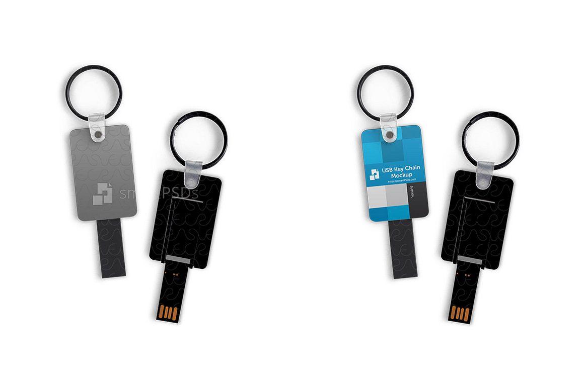 USB Stick Keyring Design Mockup example image 1