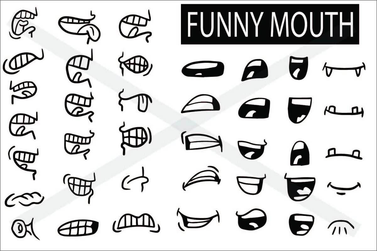 Mouth Cartoon Set - SVG EPS JPG P example image 1