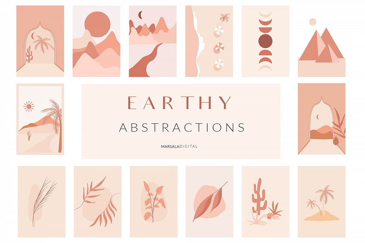 EARTHY Abstractions & Prints Celestial, Desert, Bohemian example image 1