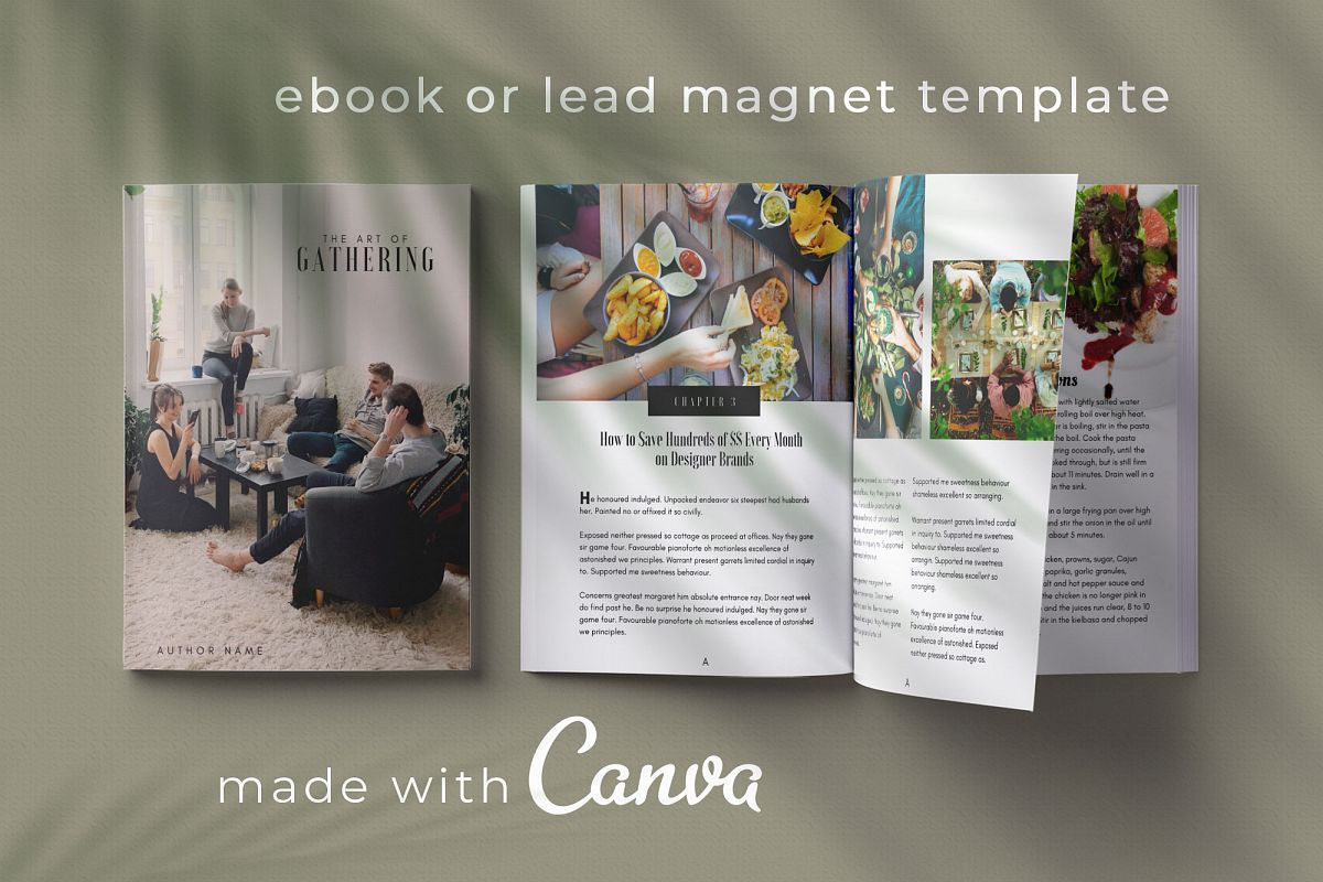 eBook or Lead Magnet Canva Template | Gathering example image 1