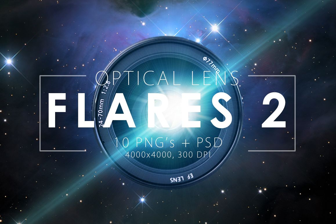 10 Optical Lens Flares Pack 2 example image 1