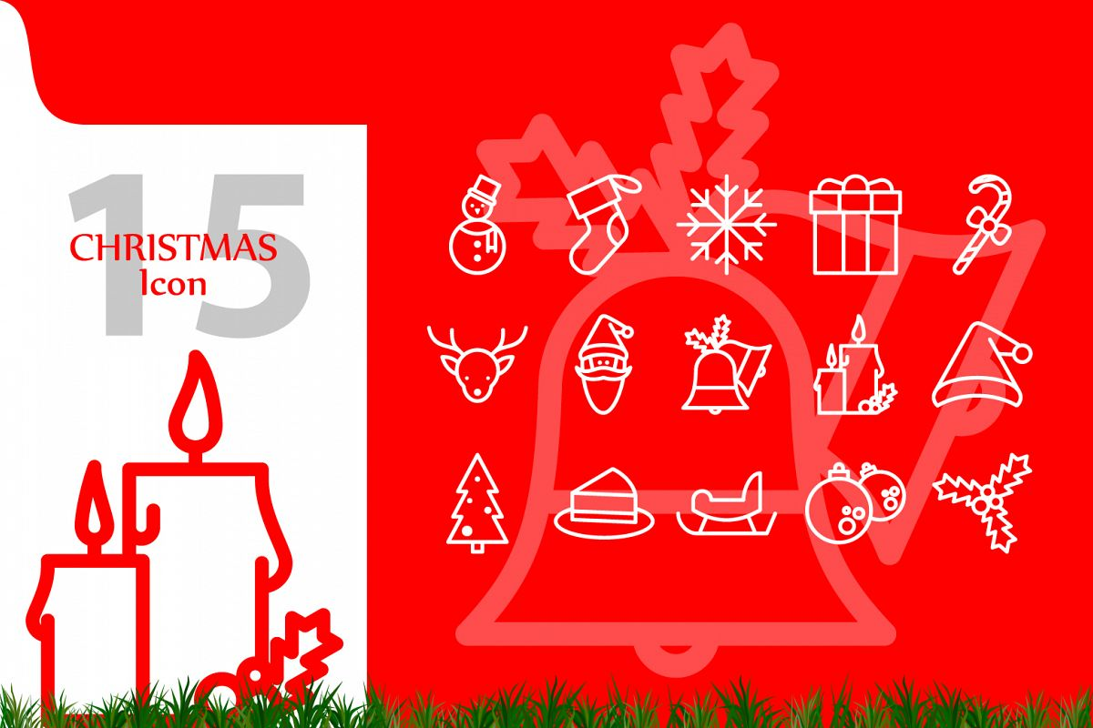 Christmas Icon set example image 1