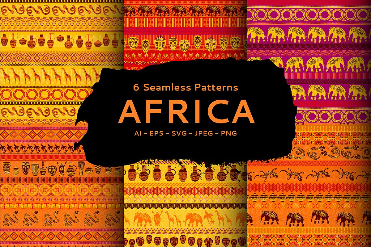 African Patterns Collection example image 1