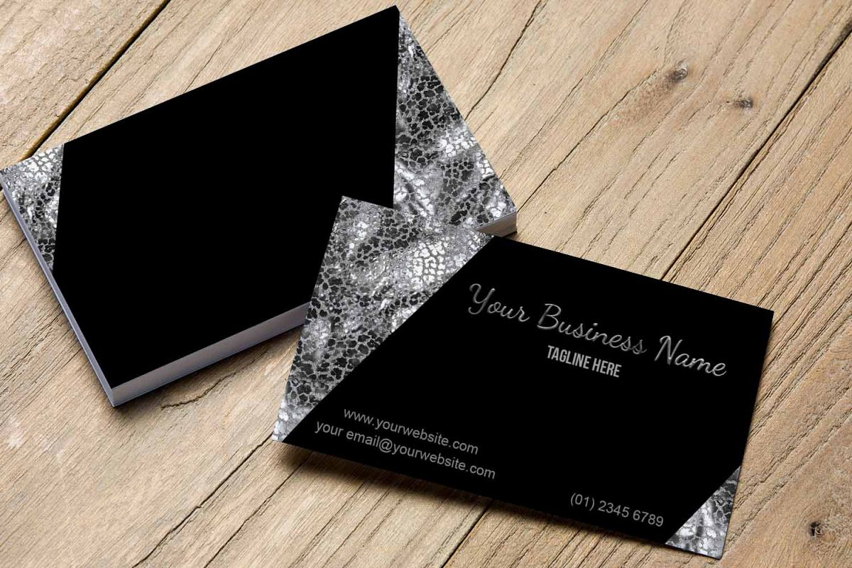 Stylish black and silver business card design bundles stylish black and silver business card template example image colourmoves