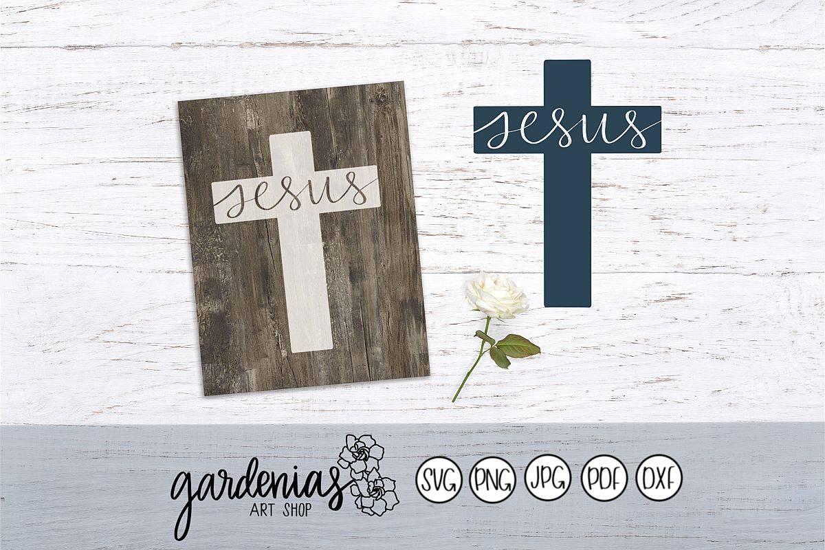 Jesus lettered in Cross example image 1