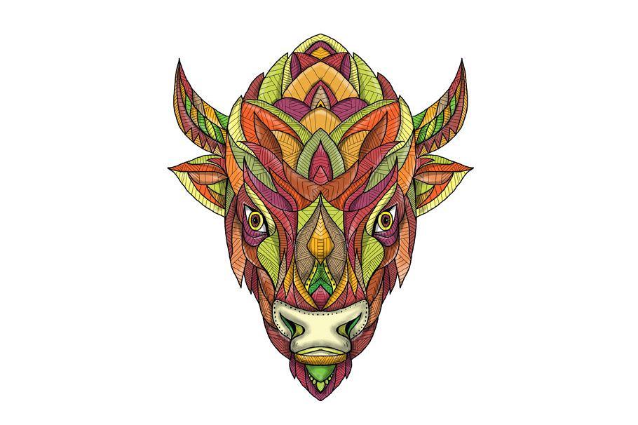 American Buffalo Bison Mandala example image 1