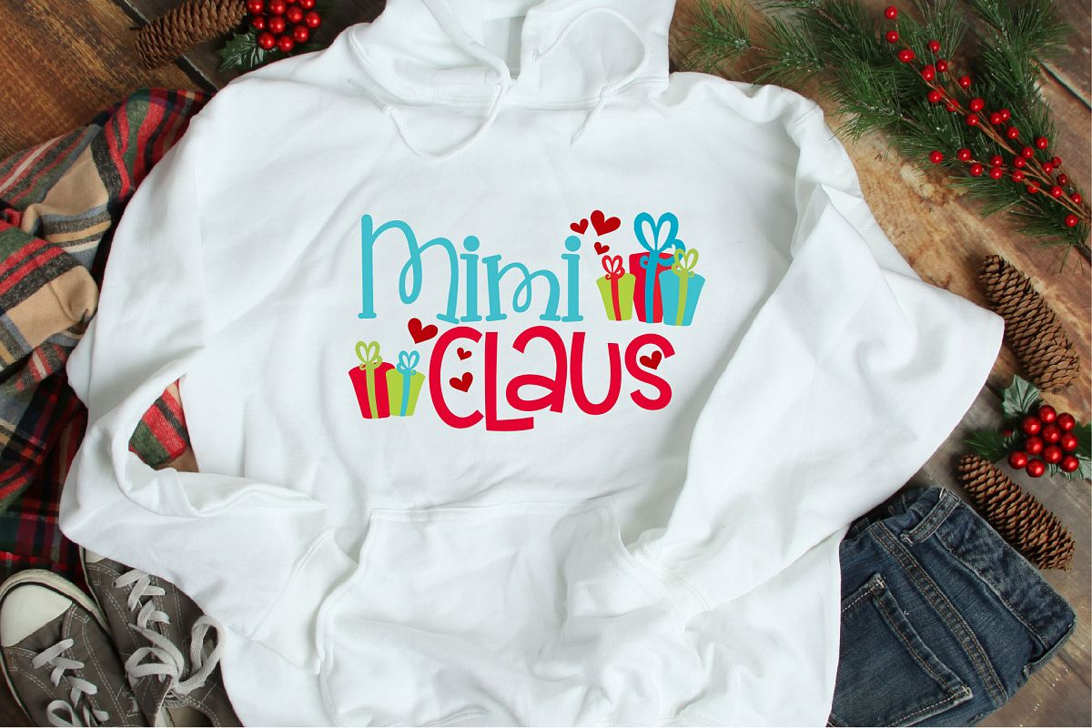 Christmas SVG, Mimi Claus, Santa Claus Grandma Sublimation example image 1