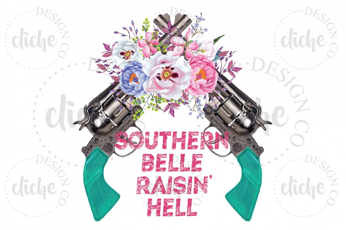 Southern Belle Sublimation Design example image 1