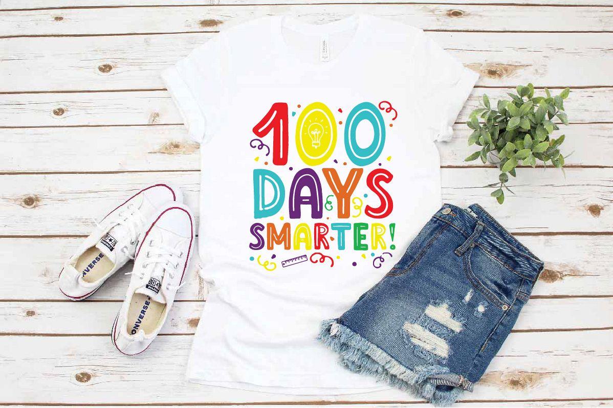 School svg, 100 days smarter svg, Back to school Teacher example image 1