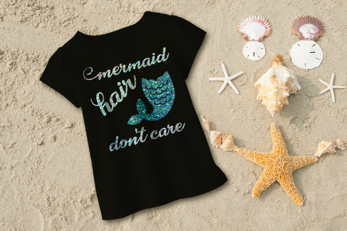 Mermaid Hair Don't Care SVG File Cutting Template example image 1