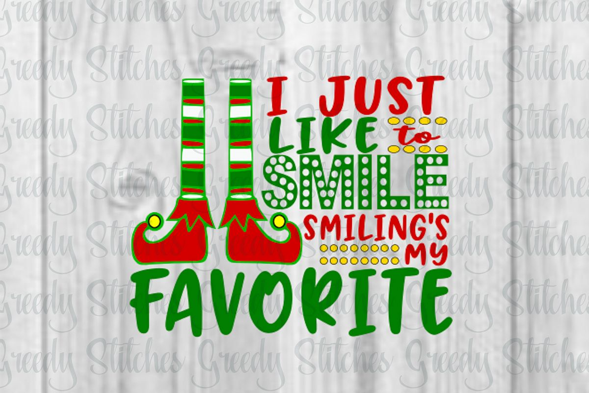 I Just Like To Smile. Christmas SVG, DXF, EPS, PNG
