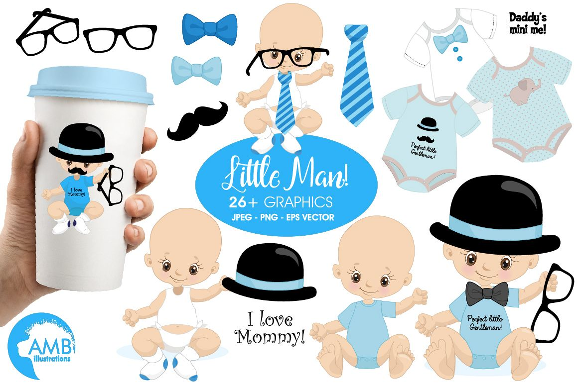 Little Man clipart, graphics, illustrations AMB-1291 example image 1
