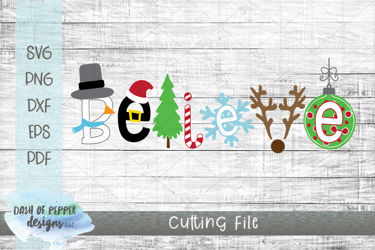 Believe SVG - A Christmas SVG example image 1