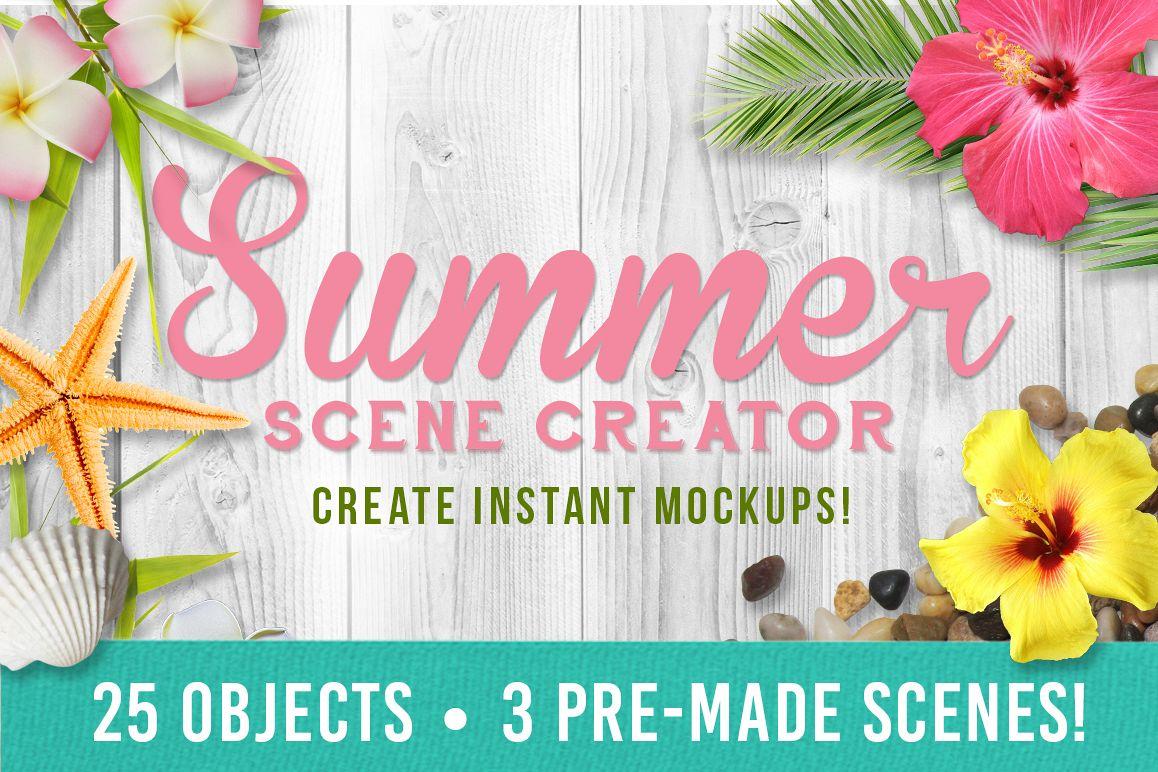 Summer Mockup Scene Creator example image