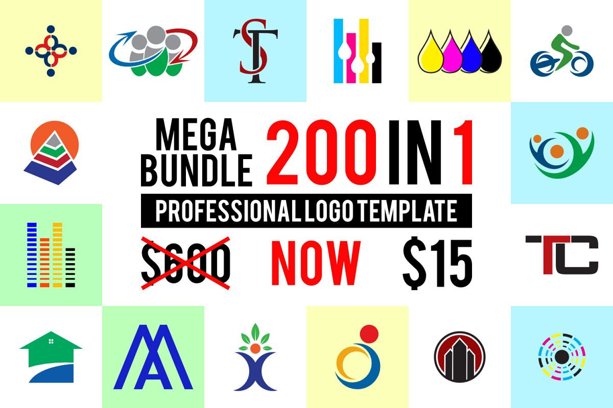 200 premium logo template bundle example image 1