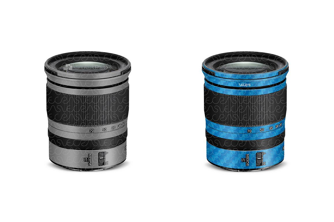 Nikon NIKKOR Z 24-70mm 2018 Lens Vinyl Skin Design Template example image 1