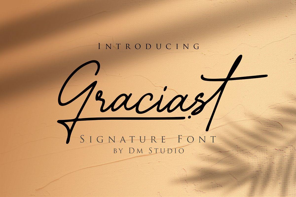 Graciast - Signature Font example image 1