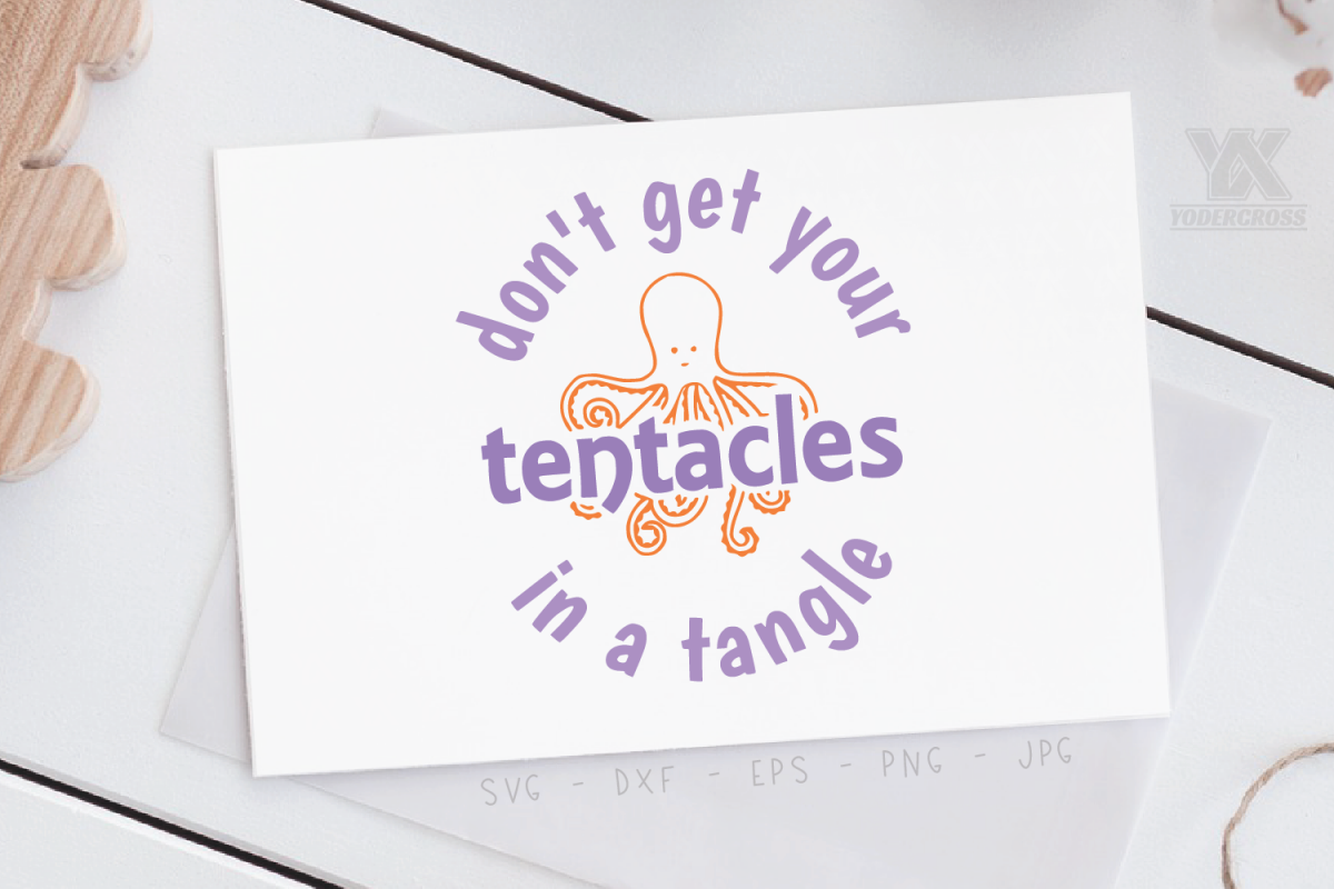 Don't Get Your Tentacles in a Tangle SVG example image 1