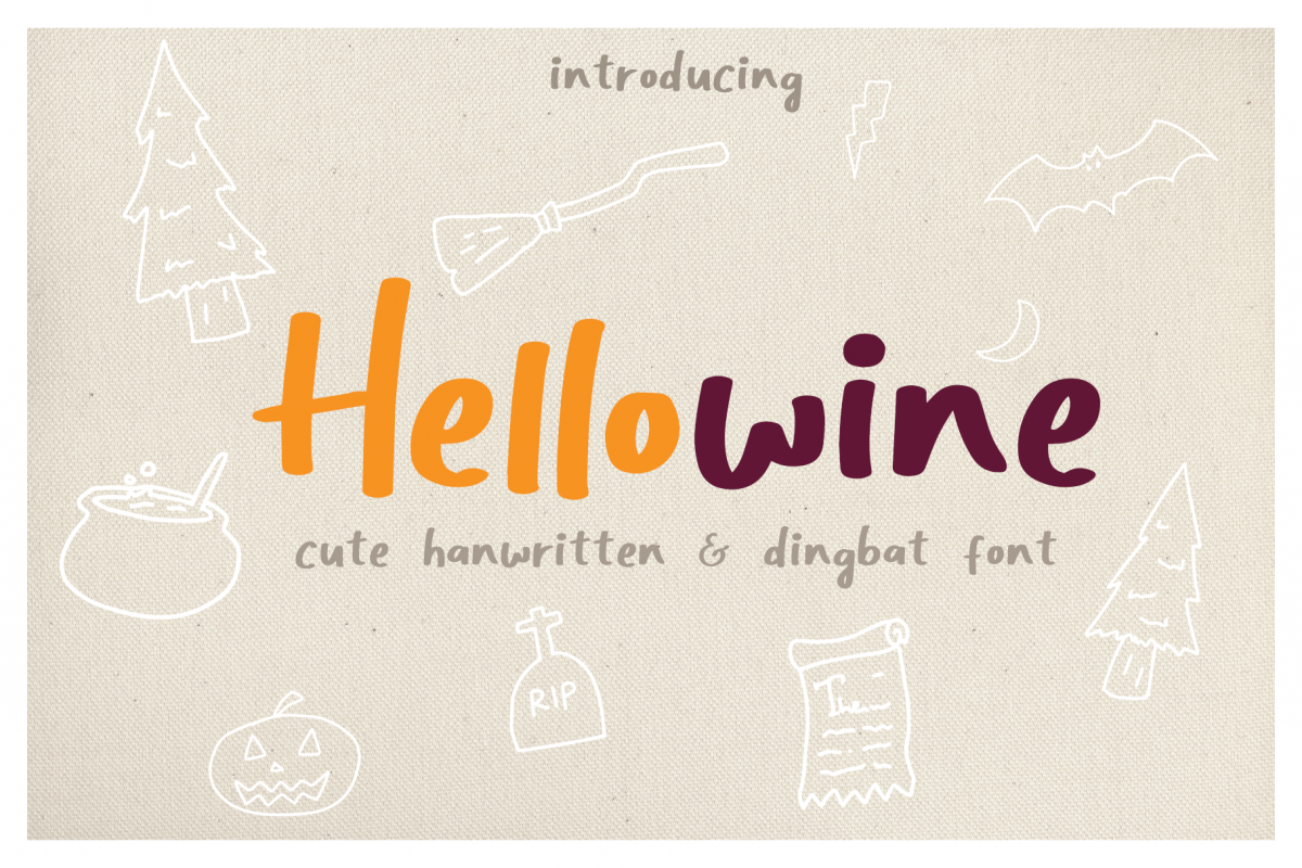 Hellowine - Cute Handwritten Font example image 1
