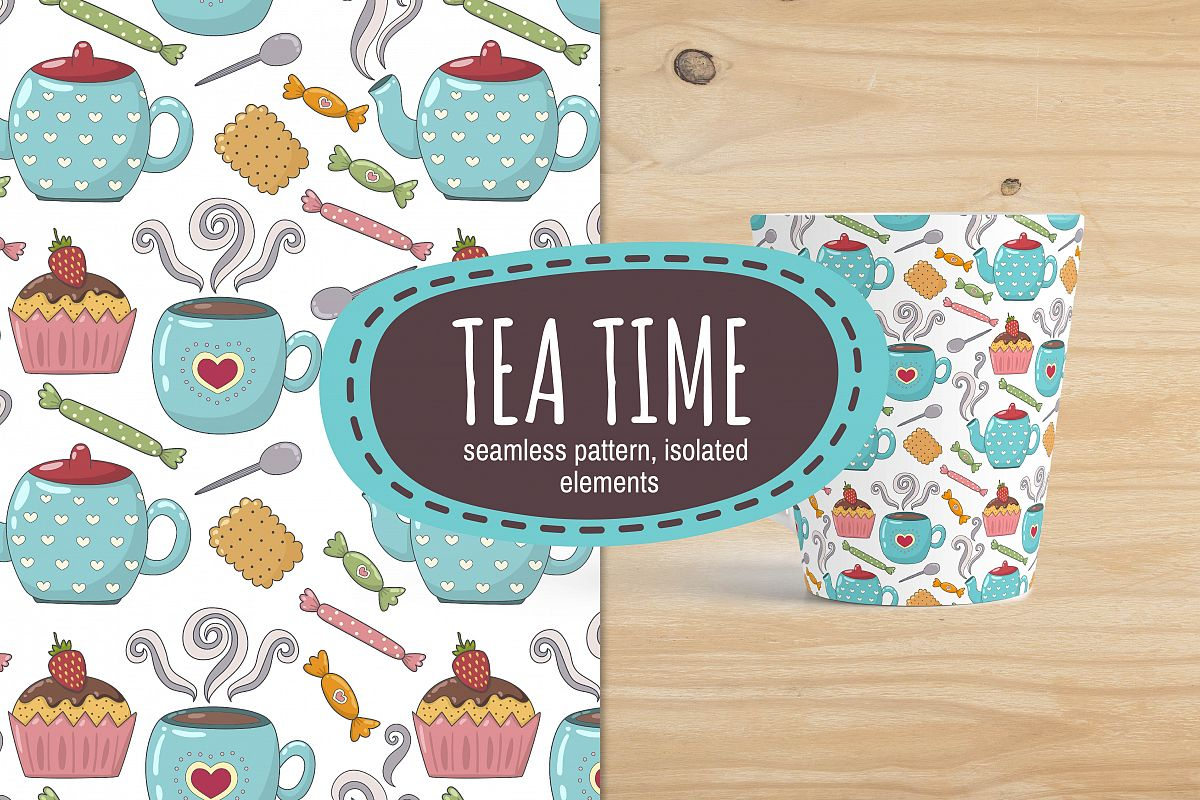 Tea Time: pattern & elements example image 1