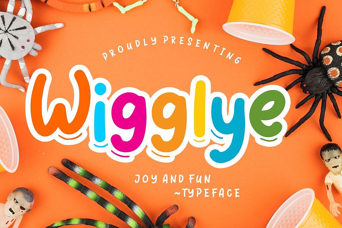 Wigglye Joy & Fun Typeface example image 1