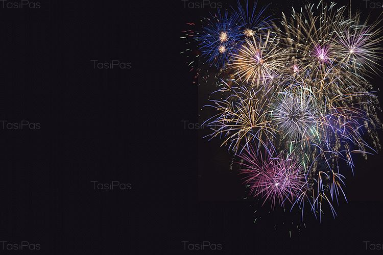 Beautiful celebration lilac, purple and golden fireworks example image 1