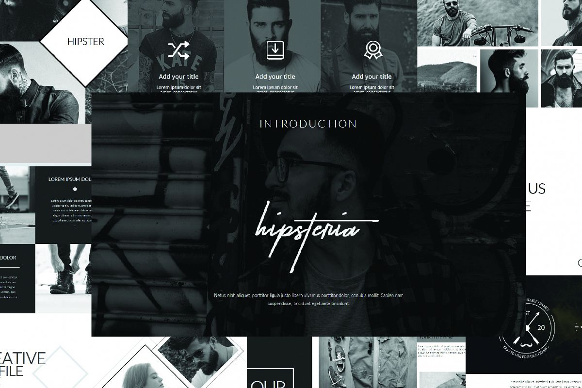 Hipsteria Business Keynote Template example image 1