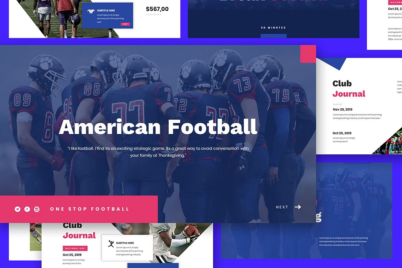 American Football Google Slides example image 1
