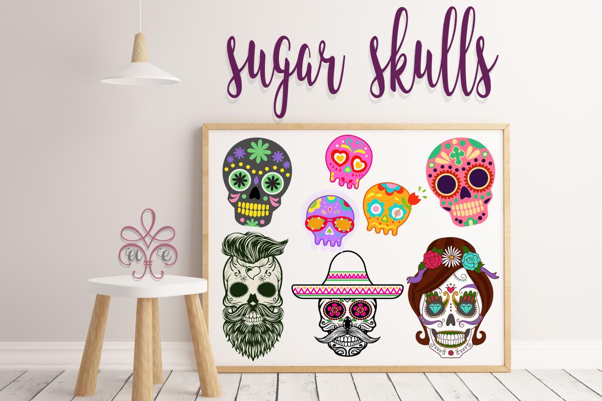 Sugar Skull SVG Bundle example image 1