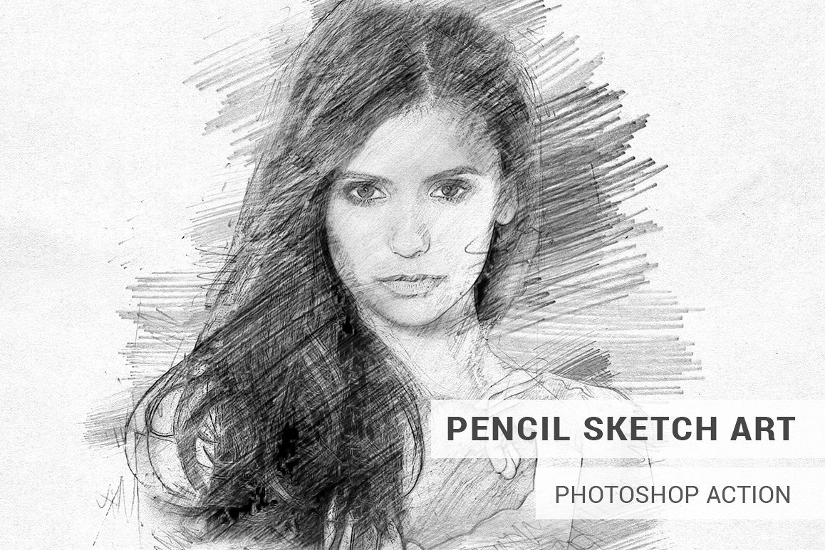 Pencil sketch art photoshop action example image 1