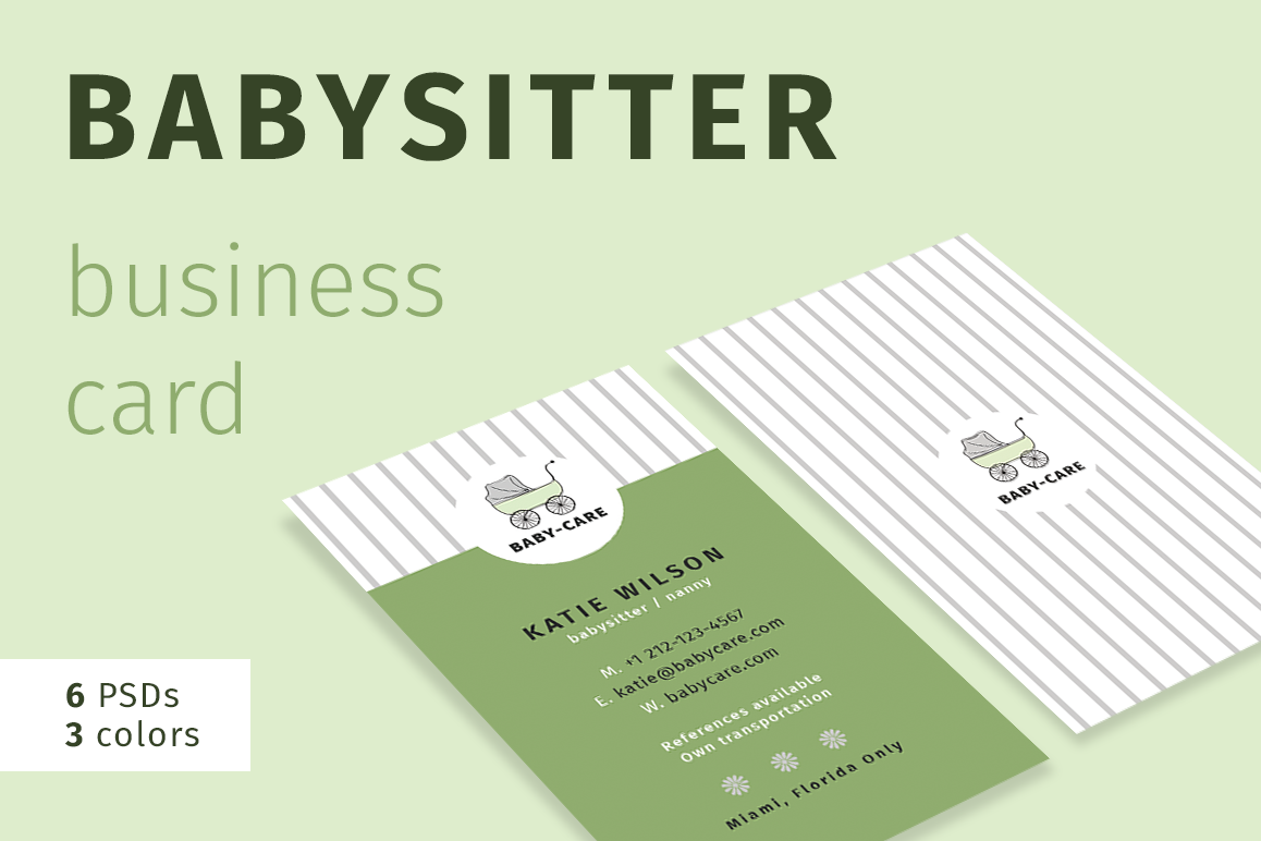Babysitter business card babysitter business card example image 1 colourmoves