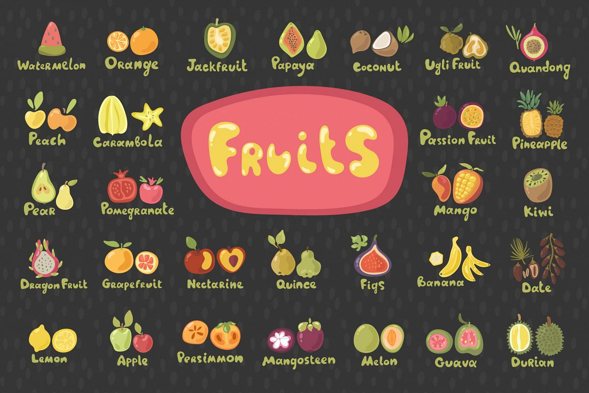 Fruits - Vector Set example image 1