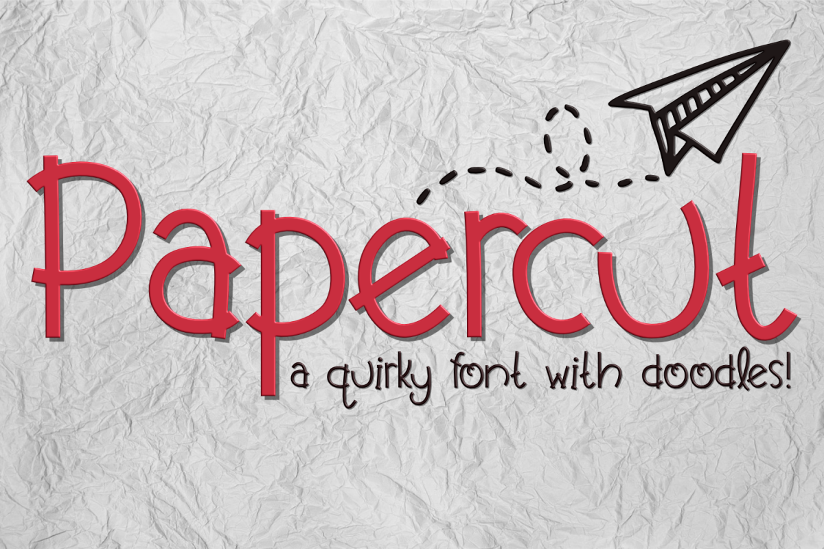 Papercut Font example image 1