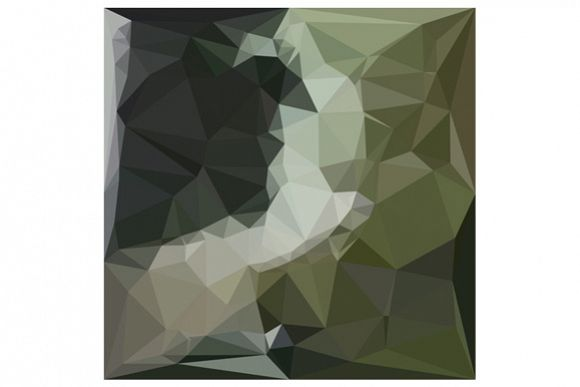 Dark Slate Gray Abstract Low Polygon Background example image 1