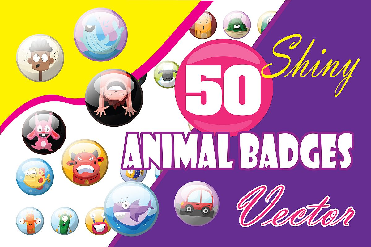 50x Vector Badges, Buttons or icons design! example image 1